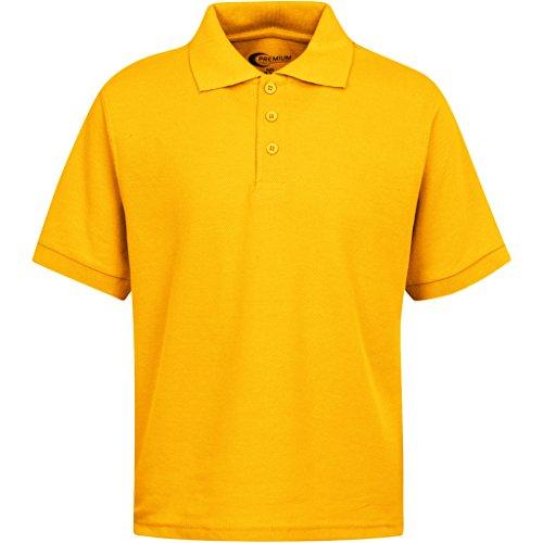 Boys Uniform Polo Shirt Gold XXS 3/4 -