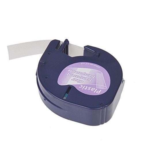 NineLeaf 20PK Compatible DYMO LetraTag 16952 (12267 16951 12268 S0721530) Black on Clear Plastic Label Tape for LetraTag LT-100H LT-100T LT-110T QX50 XR XM, Plus LT-100H (1/2'' x 13',12mm x 4m) by NineLeaf (Image #3)