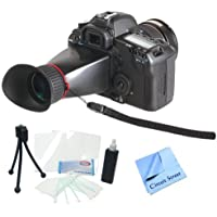 Professional 3.4x LCD Viewfinder Kit For Panasonic DMC-GF2, DMC-GH2, DMC-G2, DMC-G10 Micro 4/3 Digital Cameras. Also Includes Cleaning Kit, LCD Screen Protectors & CS Microfiber Cleaning Cloth