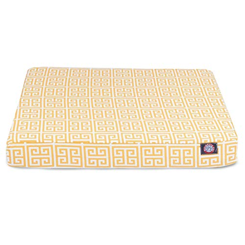 Majestic Pet Products Towers Orthopedic Memory Foam Rectangle Dog Bed Yellow Small