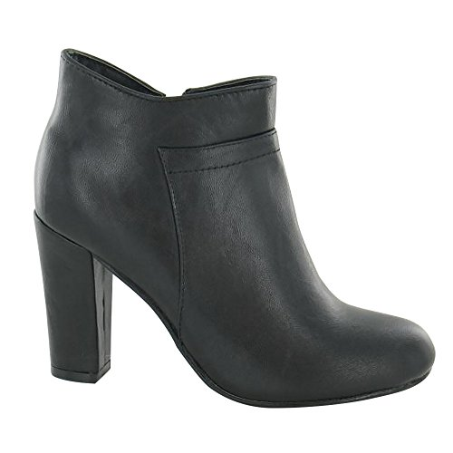 Spot On Womens/Ladies Zip up Heeled Ankle Boots Black