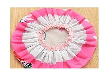 KEEPING ONE Bonnet de douche étanche à double couche avec bords élastiques
