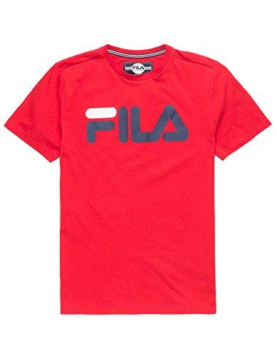 Fila Classic Logo Red Boys T-Shirt, Red, Medium