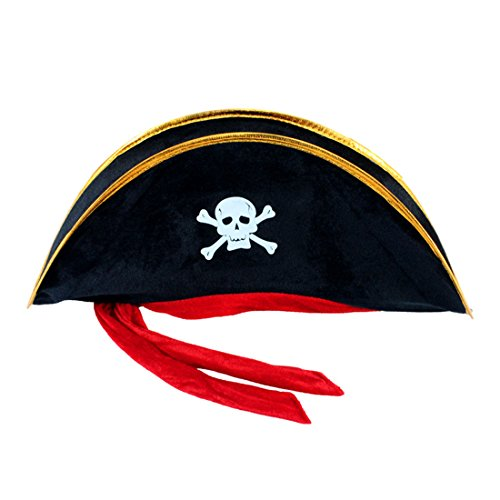 Halloween Costume Pirate Skull Hat Skull Print Costume Cap Cosplay Costume Halloween Decoration