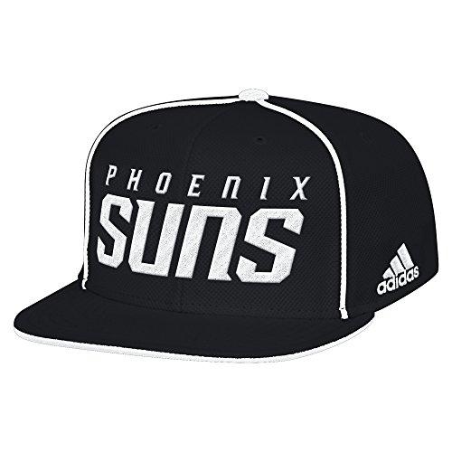 NBA Phoenix Suns Men's Fanwear Team Flat Brim Snapback Cap, One Size, Black -