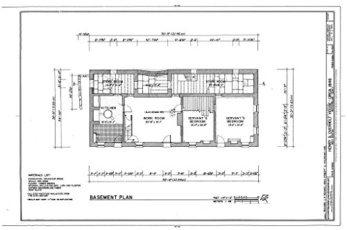 Historic Pictoric Structural Drawing HABS PA,65-OVTW,10- (Sheet 1 of 7) - Henry S. Overton House, 1526 Frick Avenue, West Overton, Westmoreland County, PA 66in x 44in
