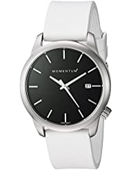 Momentum Women's Quartz Stainless Steel and Rubber Dress Watch, Color:White (Model: 1M-SP11B1W)