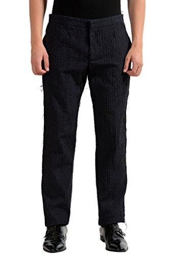 Maison Martin Margiela Men's 100% Silk Distressed Slim Dress Pants US 30 IT - Martin Margiela Designer