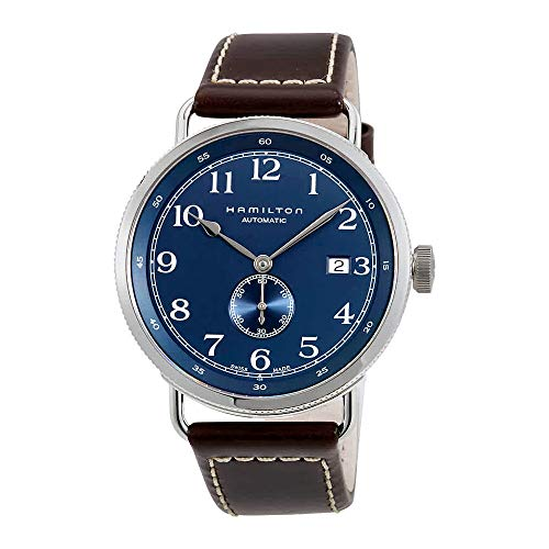Hamilton Men's HML-H78455543 Khaki Analog Display Swiss Automatic Blue Watch