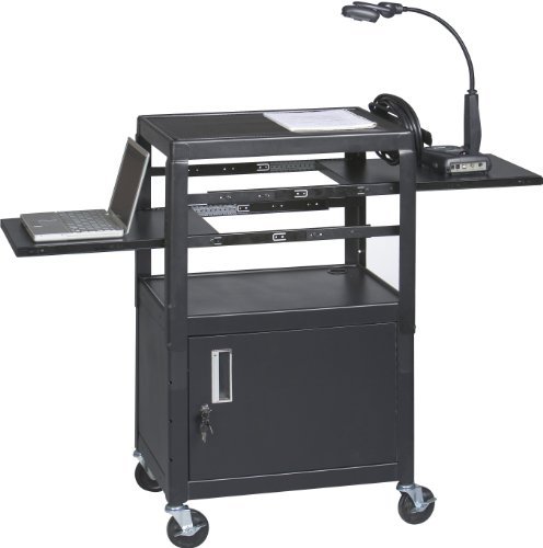 Balt Dual Adjustable Laptop Utility Workstation Cart 26