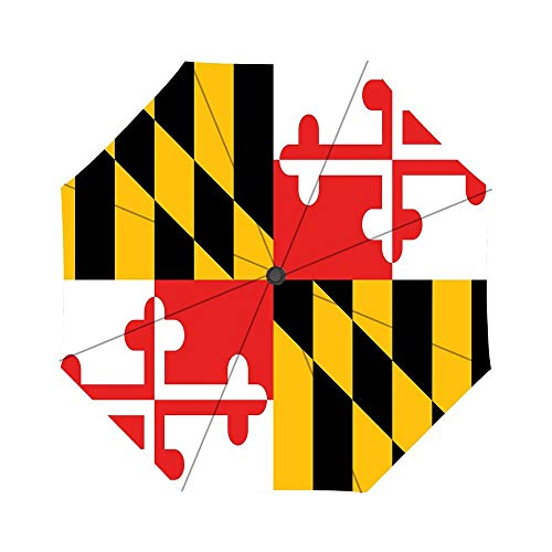 - Flag Maryland State Coat Of Arms Pattern Windproof Compact One Hand Auto Open and Close Folding Umbrella, Compact Travel Umbrella Folding Rain Outdoor Umbrellas