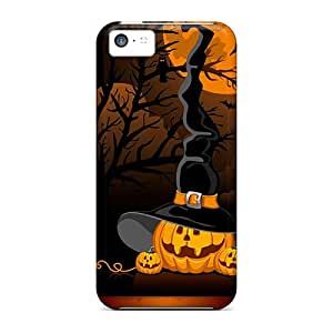 Fashion GWiPr2630OVFjp Case Cover For Iphone 5c(halloween Pumpkins Witch Hat)