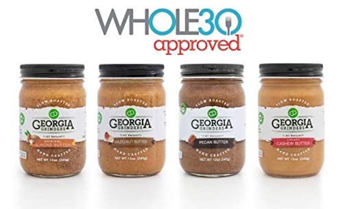 Georgia Grinders Nut Butters Variety Pack - Whole30 Approved! (Hazelnut, Cashew, Original Almond Butter, Pecan)