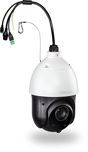 TRENDnet Indoor Outdoor 2MP 1080p PoE IR PTZ Speed Dome Network Camera, 20 x Optical Zoom, Auto-Focus, Auto-Iris, IP66 Housing, Night Vision Up to 100m 328 ft. , TV-IP440PI