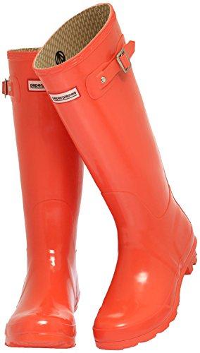 Wellington Rain Trendy Paperplanes 1193 Boots Orange Garden Long Women wOtq7qYU