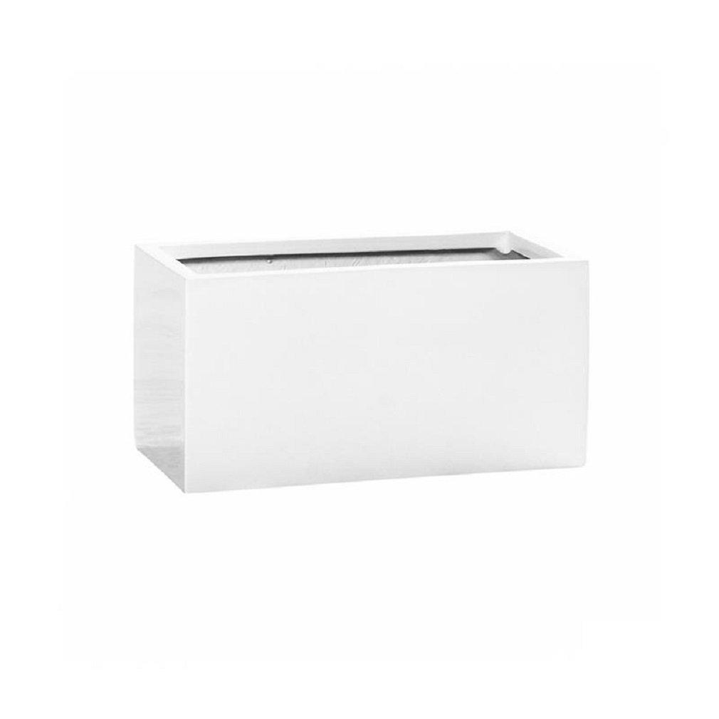 Pottery Pots Balcony XS White Shiny Rectangular Planter 9x9x16