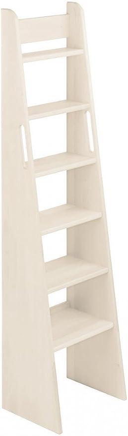 BioKinder 23811 Escalera de Mano Noah con Cama de Madera Maciza de Pino 160 cm Barnizado Blanco: Amazon.es: Hogar