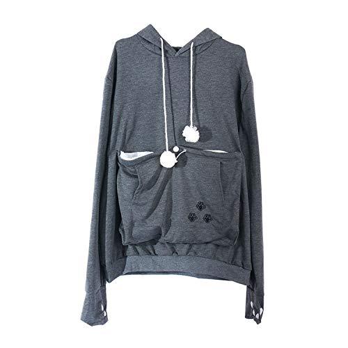 Hoodies Women Pet Hooded Casual Kangaroo Cat Sweatshirt for Women Pouch Hoodie H