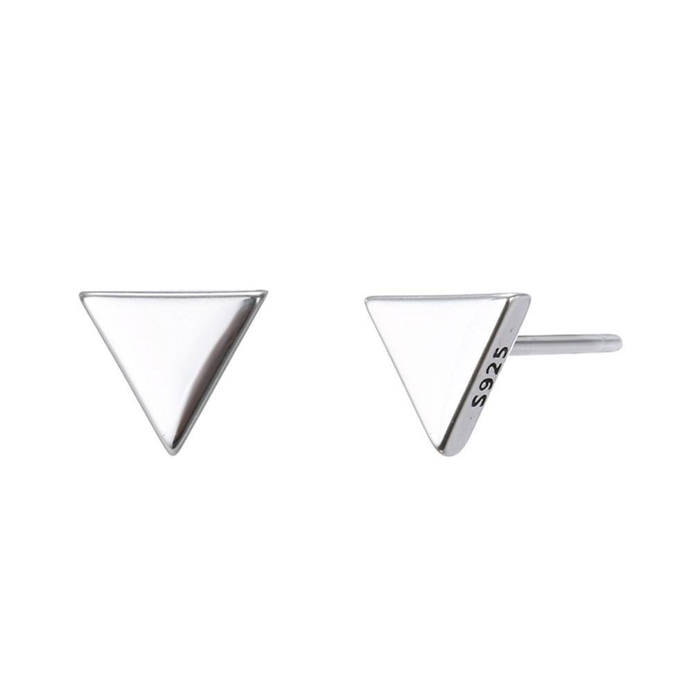 MAFYU Earrings S925 Silver Geometric Earrings 7/×7Mm Temperament Character Triangle Stud