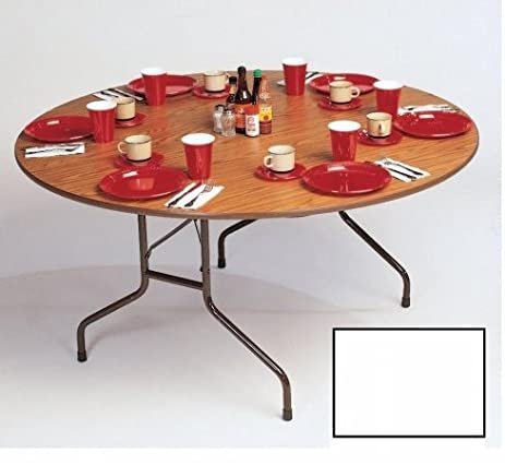 Correll Cf48Px 36 .75 Inch High Pressure Top Round Folding Table   Fixed