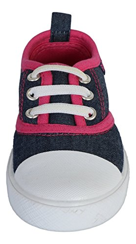 Gerber Baby Rubbersole Early Walker Slip On Sneakers (Infant/Toddler), Denim/Pink, 5 M US Toddler' by Gerber (Image #2)