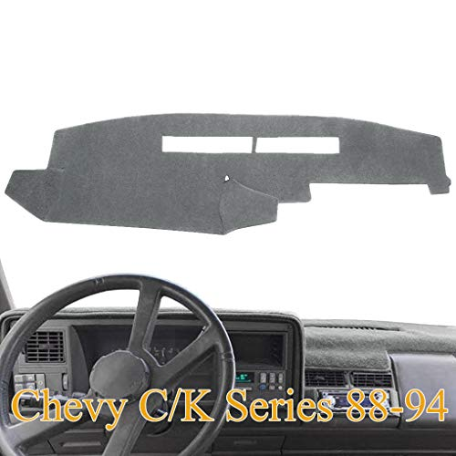Dashboard Cover Dash Cover Mat Custom Fit for Chevy Chevrolet C1500 C2500 C3500 K1500 K2500 K3500 Pickup Truck 1988-1994 (88-94, Gray) Y25