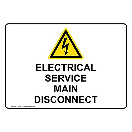 service disconnect sign - 9