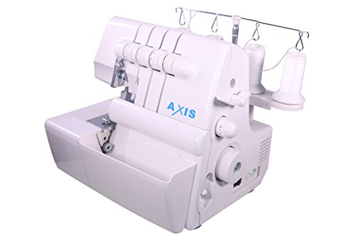 Axis 14U554 3 / 4 Thread Serger With Differential Feed Overlock Sewing Machine Home Craft Dressmaker Tailoring Portable