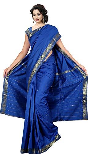 KoC Indian Traditional Ethnic Women wear Art Silk Saree -Royallbue RoyalBlue