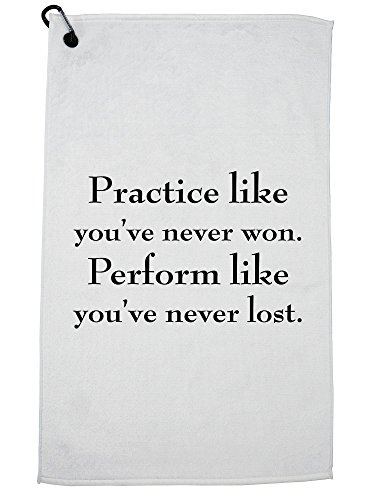 Hollywood Thread Sports - Practice Like You've Never Won. Perform Like You Golf Towel with Carabiner Clip by Hollywood Thread (Image #5)