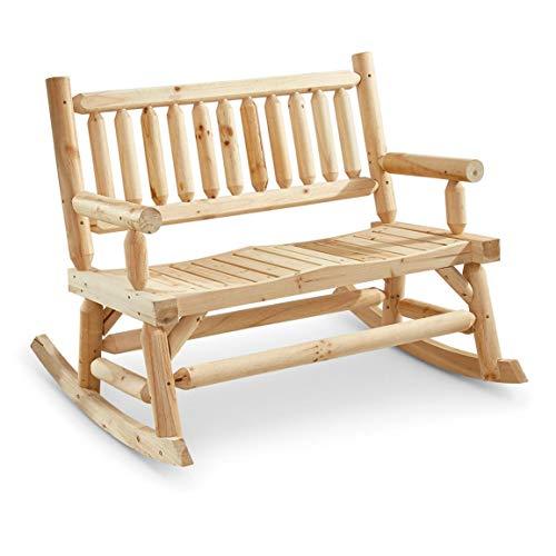 CASTLECREEK 2-Seat Wooden Rocking Bench ()
