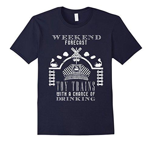 Mens Forecast Toy Trains Conductor Hat Shirt Railroad Sig...