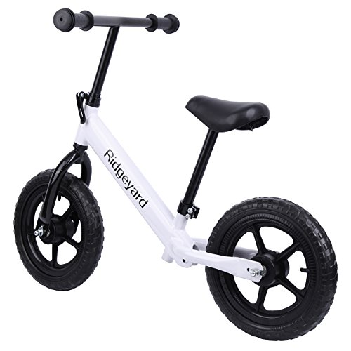 Ridgeyard 12″ No-Pedal Balance Bike Walking Bicycle for Kids Age 2-6 with Adjustable Seat and Handle Height
