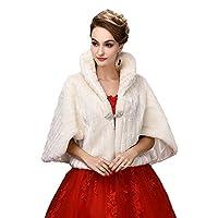 SK Studio Warm Faux Fur Wedding Shawl Perfect for Wedding/party/show