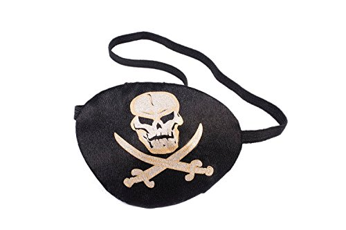 Forum Novelties Unisex-Adults Pirate Eye Patch with Printing, White, Standard