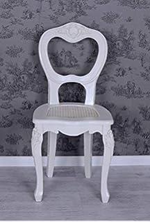 Vintage Stuhl Weiss Holzstuhl Rokoko Esszimmerstuhl Shabby Chic Palazzo  Exclusiv