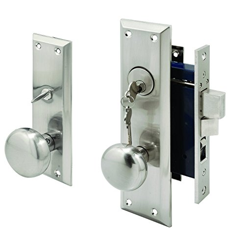 Segal SE 27590 Wrought Solid Brass Entrance Mortise Lockset with 2-1/2