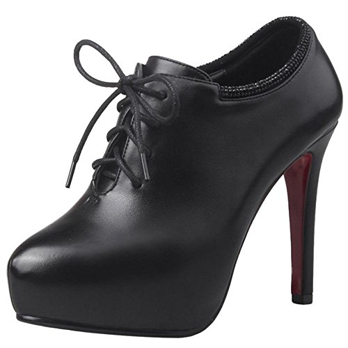 Pumps Black Heel High Classic TAOFFEN Shoes Women YEIxTxqw