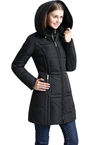 BGSD Women's Whitney Waterproof Down Puffer Coat - S Black ()