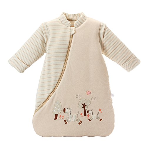 EsTong Unisex Baby SleepSack Wearable Blanket Cotton Sleeping Bag Long Sleeve Nest Nightgowns Thickened winter Medium