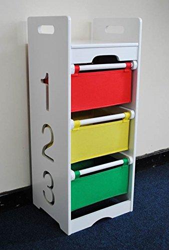 De almacenamiento de colores para niños blanco cajones ...
