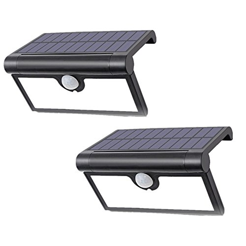 LIGHTESS Solar Lights Outdoor Wireless 42 LED Motion Sensor Solar Lights with Wide Lighting Area Waterproof Security Lights for Front Door Back Yard Driveway Garage, 2-Pack
