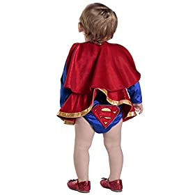 - 41PC0U15lpL - Infant/Toddler DC Comics Supergirl Dress & Diaper Cover Set – 4 sizes