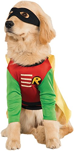 UHC Robin Dc Comics Outfit Fancy Dress Puppy Halloween Pet Dog Costume, -