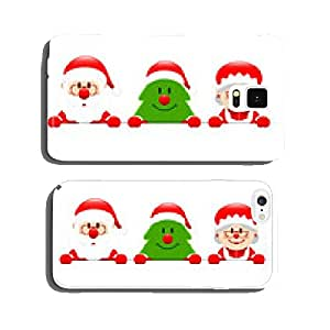 Santa, Tree & Mrs. Santa Banner cell phone cover case Samsung S6