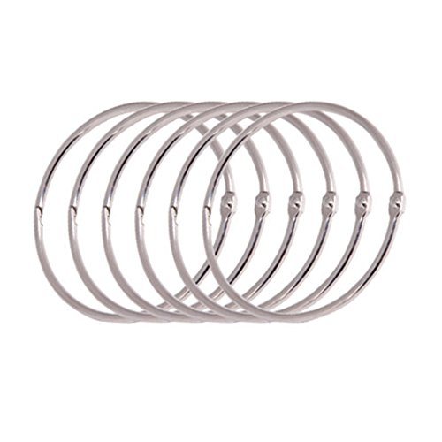 Piece 12 Eyelets (12 Pieces 2 Inch Simple Metal Circular Shower Ring Curtain Rings, Silver)