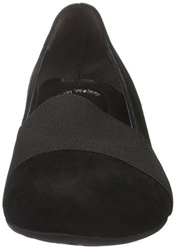 Gabor Shoes Comfort Fashion, Zapatos de Tacón para Mujer Negro (Schwarz Schwarz)