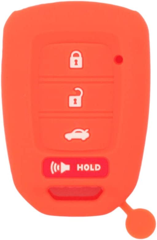 SEGADEN Silicone Cover Protector Case Skin Jacket fit for HONDA 3+1 Hold Buttons 4 Buttons Remote Key Fob CV4213 Pink