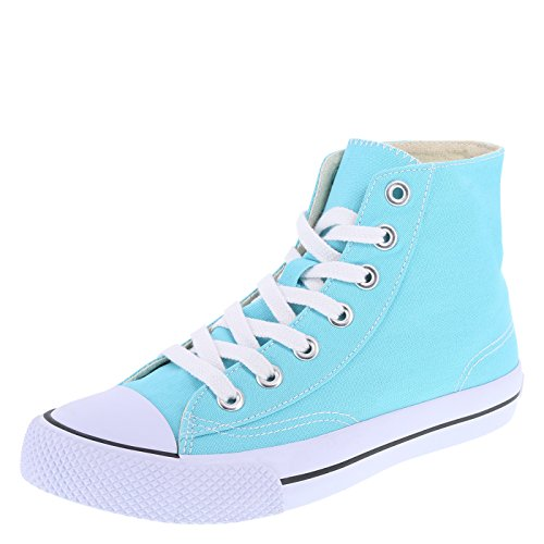 Blue High Top (Airwalk Women's Turquoise Canvas Women's Legacee High-Top 8 Regular)