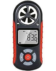 Queenser 8 em 1 anemômetro digital portátil velocidade do vento/sensação térmica/temperatura/umidade/índice de calor/ponto de orvalho/pressão barométrica/medidor de altitude Meteorógrafo